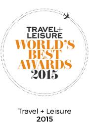 Travel+Leisure Award 2015