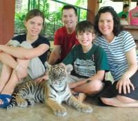 A Family with Baby Tiger