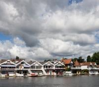 Boathouses in Hurley-on-Thames