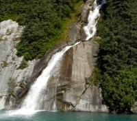 Waterfall in Tracy Arm Fjords