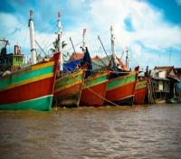 Boats in Mekong River