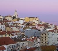 Sunset at Lisbon Old Town