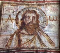 Bearded Christ, from catacombs of Commodilla