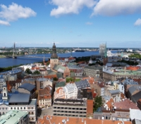 Riga, view over Old Town
