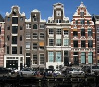 Amsterdam traditional canal side houses