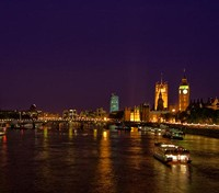 Dinner cruise on the Thames