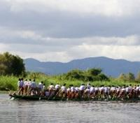 Leg Rower's Running Race Festivity