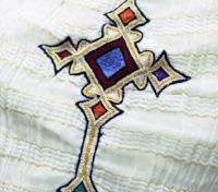 Ethiopian Cross Stitched on Ancient Garment