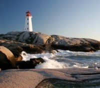 Famous Lighthouse of Peggy's Cove