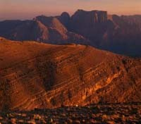 Jebel Shams at Sunset