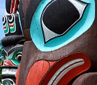 Native Totem Pole in Stanley Park