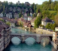 Bern River and Village