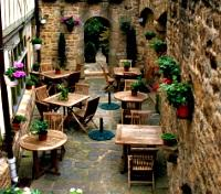 Cafe at Mont Saint Michel