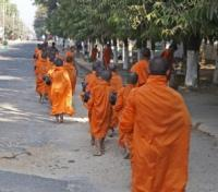 Monks in the Early Morning Hours