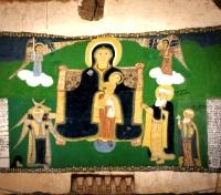Old Christian painting in an ancient Orthodox Church in Yeha Village