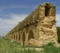 Ancient Roman Aqueduct in Ruins