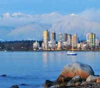 Vancouver with Grouse Mountain background