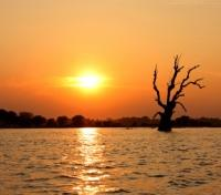 Sunset over the Ayeyarwaddy River