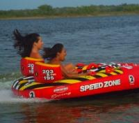 Speed Boating at Lamanai Lodge