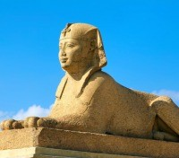 Sphinx: Located at Pompey Pillar