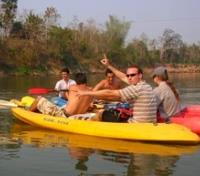 Kayaking the Nam Khan River