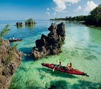 Kayaking at Zanzibar Islands