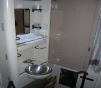 Bathroom onboard Abela Train