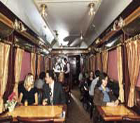 Lounge/Dining onboard Abela Train