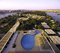 Pool View at the Movenpick Elephantine in Aswan