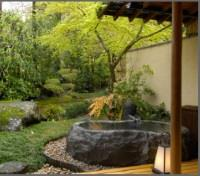 Japanese Room with Big Stone Open Air Bath