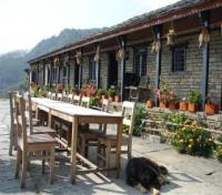 Gurung Lodge Outdoor Dining