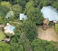 Machaca Hill Lodge aerial view