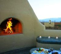 Cavas Wine Lodge Fireplace