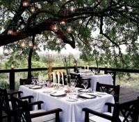 Dining at Londolozi Tree Camp