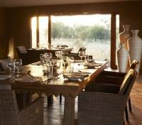 Dining at Sayari Tented Camp