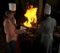 Tloma Lodge dining