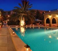 Dar Cherait Pool at night