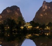 Night Fall on Yangshou Resort