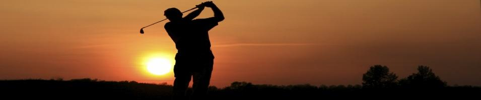 Golf Course Golfer Sunset