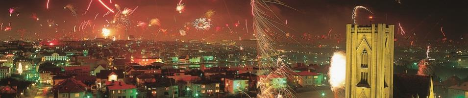 New Year`s in Reykjavik