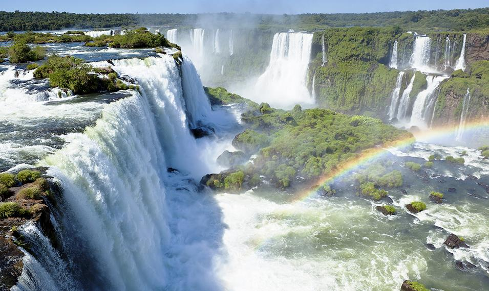 Take in the beauty of the Brazilian side of Iguazu Falls.