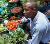 Street Vendor at Kampala Fruit Market