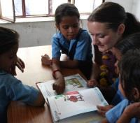 ME to WE: India Discovery & Volunteering Tours 2017 - 2018 -  Reading with Village Children