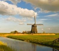 Paris, Amsterdam & Tulip River Cruise Tours 2017 - 2018 -  Windmill in the West Friesland