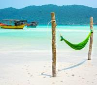 Cambodia Southern Exposure Tours 2017 - 2018 -  White Sandy Beach at Koh Rong Samloem Island