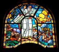 Treasures of Ethiopia Tours 2017 - 2018 -  Holy Trinity Cathedral - Ten Commandments Stain Glass