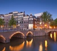 Paris, Amsterdam & Tulip River Cruise Tours 2017 - 2018 -  Canal in the evening