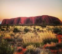 Australia Family Adventure Tours 2017 - 2018 -  Ayers Rock at Sunset