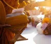Laos Signature Tours 2017 - 2018 -  Offering Alms to Monks