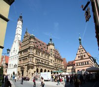 Romantic Road Discovery Tours 2017 - 2018 -  Rothenburg - Town Hall Square